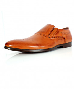 Camel Brown Dotted Stitched Design Formal Shoes CB-2118