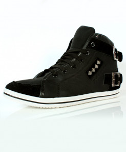 Black Back Ankle Stitched Design Casual Shoes DR-330