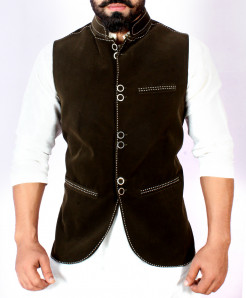 Choco Brown Stylish Design Waistcoat FD-1004