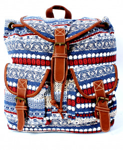 Varicolored Vintage Canvas Ladies Backpack GL-1232