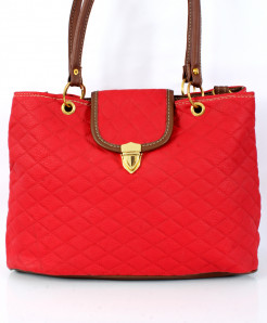 Red Stitched Design Ladies Handbag WT-3003