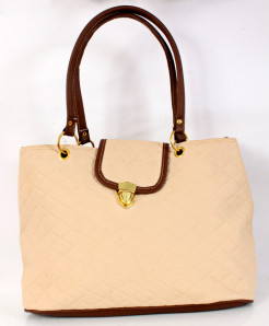 Off-White Brown Hook Lock Style Handbag WT-3030