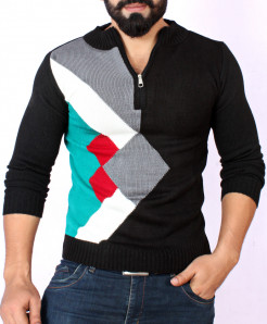 MultiColor Half Zipper Stylish Sweater KG-01