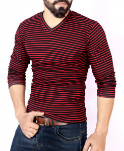 Maroon Striper Sweat Shirt MWS-043