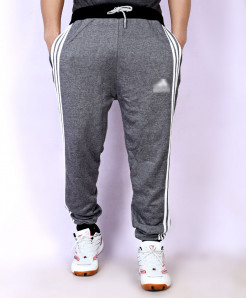 Charcoal Fleece Striper Narrow Bottom Trouser AG-14