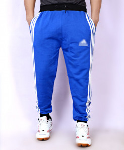 Royal Blue Fleece Striper Narrow Bottom Trouser AG-15