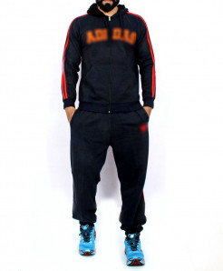 Navy Blue Striper Stylish TrackSuit MWS-058