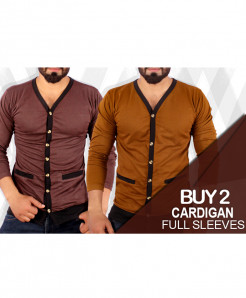 Pack Of 2 Cardigan Full Sleeves T-Shirts SF-223