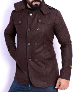 Choco Brown Stylish Tweed Blazer ABS-47