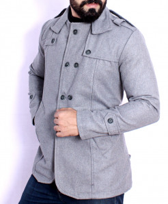 Steel Grey Stylish Tweed Blazer ABS-52