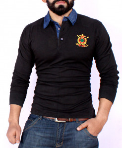 Black Rugby Shirt SF-07