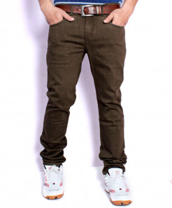 Brown Casual Chino Cotton Pants SA-009