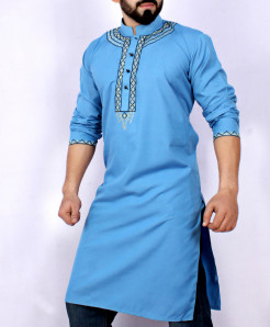 Blue Embroidered Stylish Kurta ARK-945