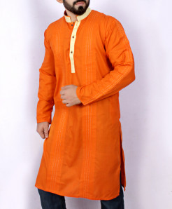 Orange Stitched Design Stylish Kurta ARK-947