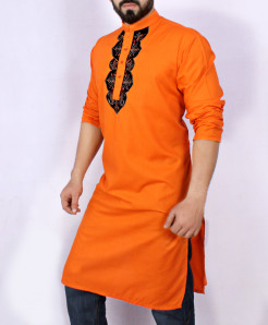 Orange Front Embroidered Stylish Kurta ARK-948