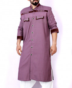 Purple Shairwani Stylish Kurta ARK-953