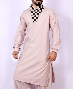 Light Peach Stylish Design Kurta Shalwar ARK-965