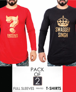 Pack Of 2 Printed T-Shirts AG-24