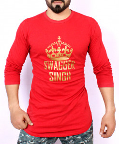 Red Swagger Singh T-Shirt AG-27