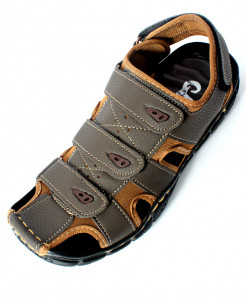 Choco Brown Tri Strap Stylish Sandal NCP-044