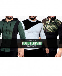 Pack Of 3 Full Sleeves T-Shirts ZV-782