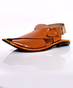 Brown Plain Stylish Peshawari Sandal AK-1032