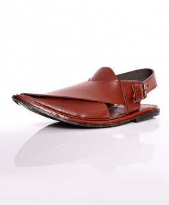 Brown Close Toe Stitched Peshawari Sandal AK-1039