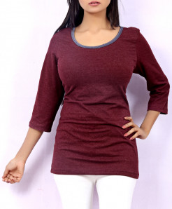 Maroon Ladies Top QZS-104