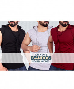 Pack Of 3 Sando Stylish Hooded SH-7341