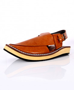 Dark Brown Stylish Captan Peshawari Sandal AK-1063