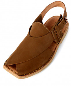 Mustard Brown Leather Peshawari Chappal SC-207
