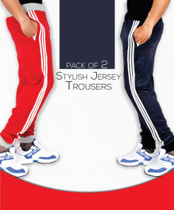 Pack Of 2 Stylish Jersey Trousers AG-29