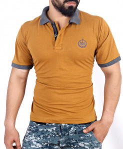 Mustard Brown Stylish Polo Shirt QZS-107