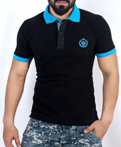 Black Stylish Polo Shirt QZS-106
