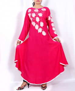 Pink Floral Front Embroidered Stylish Kurti KC-3681