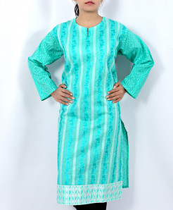 Light Blue Embroidered Stylish Ladies Kurti AU-5007