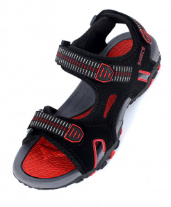 Red Black Tri Strap Stylish Sandal SC-386