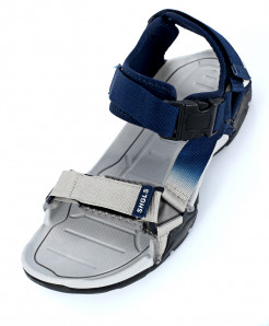 Navy Grey Tri Strap Stylish Sandal SC-393