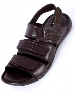 Choco Brown Stylish Tri Strap Casual Sandal NCP-560