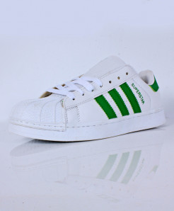 White Green Strips Stylish Sports Shoes CB-2136