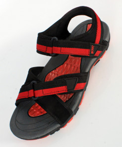 Red Black Dual Strap Stylish Casual Sandal SC-120
