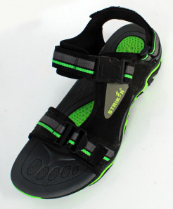 Green Black Tri Strap Casual Sandal SC-626