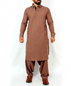 Brown Stylish Design Kurta Shalwar CD-001