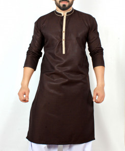 Choco Brown Stylish Design Kurta CD-005