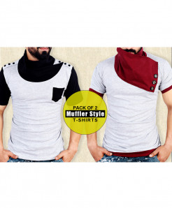 Pack Of 2 Muffler Stylish T-Shirts FSQ-160