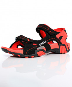 Red Black Dual Strap Stylish Sandal SC-395