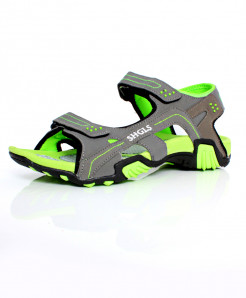 Green Grey Dual Strap Stylish Sandal SC-395