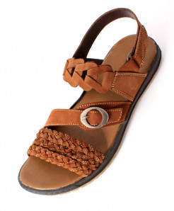 Mustard Leather Stylish Casual Sandal SC-10