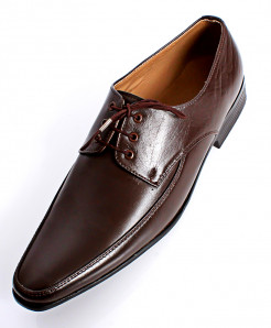 Choco Brown Leather Stylish Formal Shoes LC-509