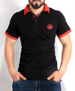 Black Red Stylish Polo Shirt QZS-114